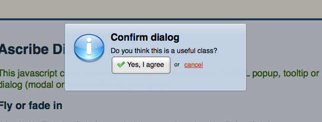 MooTools Forge | Ascribe Dialog